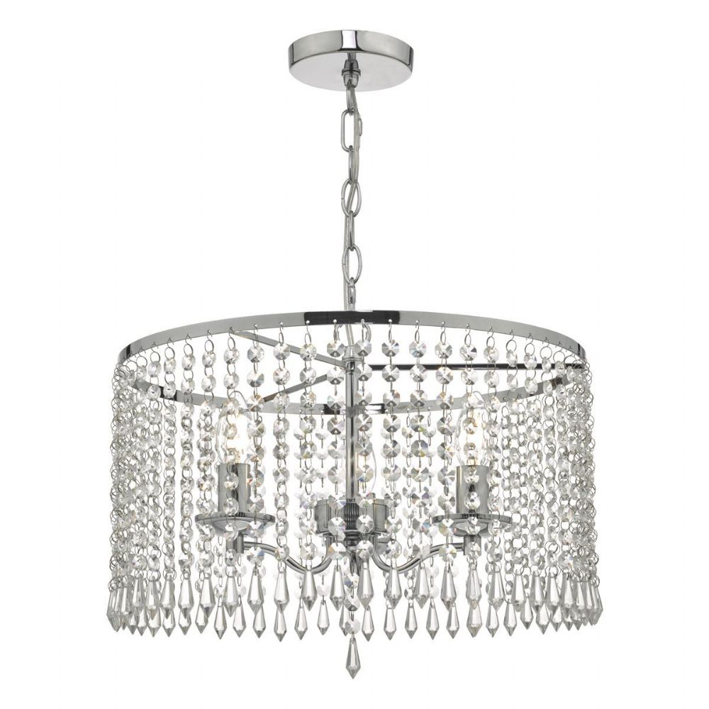 Jocelyn 3lt Pendant Polished Chrome & Crystal (double insulated) BXJOC0338-17